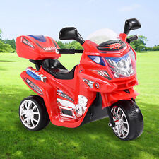 3 Wheels Power Motorcycle Battery Powered Ride On Electric Toy Kids Baby Car 6v