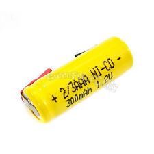 4 pcs 2/3 AAA 2/3AAA Ni-Cd 300mAh 1.2V Rechargeable Battery With Tab Yellow