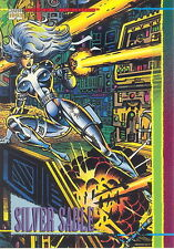 MARVEL UNIVERSE 4 1993 SKYBOX PROMO CARD NO NUMBER SILVER SABLE