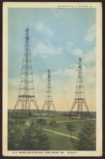 Postcard FT FORT MYER Virginia/VA  US Wireless Station Towers view 1920's