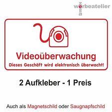 Aufkleber VIDEOÜBERWACHUNG 2 Stück 20 x 10cm wetterfest kratzfest Schild