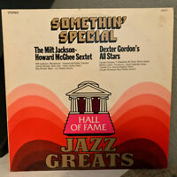 "Somethin' Special HALL OF FAME JAZZ GREATS Compilation- 12"" Vinyl Record LP - EX"