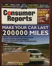 """Consumer Reports Oct 2007 """"Energy Cost, Make Your Car Last 200,000 Miles"""""""