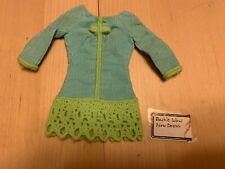 "Mattel Barbie ""Now Wow"" Vintage Dress, Crochet Accent, No Packaging, Notes"