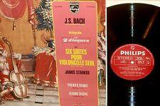 JANOS STARKER*BACH*cello suites*PHILIPS FRANCE 2LP 6755 004 gatefold