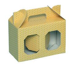 SCATOLA ASTUCCIO di cartone per 2 vasi miele da 250 g (giallo) -OFFERTA 50 pezzi
