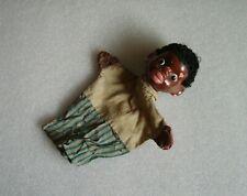 Vintage Hand/Glove Puppet Marionette Doll - Black Boy, Gdr or Czechoslovakia