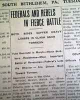2nd BATTLE OF TORREON Mexico Pancho Villa Mexican Revolution 1914 Old Newspaper