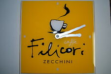 "Filicori Zecchini Clock 11-3/4"" Square. Espresso Cafe Battery Operated *Works*"