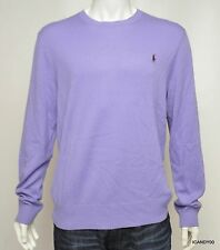 Nwt $325 POLO Ralph Lauren Cashmere Pony Crew Neck Sweater Pullover Top Lilac L