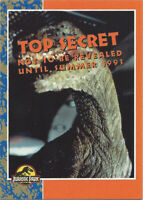 1993 Topps Jurassic Park Promo Card Top Secret / The Biggest Event of the Year