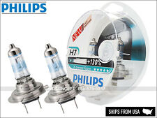 NEW Authentic Philips X-treme Vision H7 +130% 12972XV+S2 Halogen Headlight bulbs