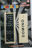 New Wooden Double Dominoes Set   Dots Traditional Family Game Fun