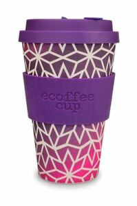 Ecoffee Cup Stargrape with Dark Purple Silicone Coffee Cup 400ml