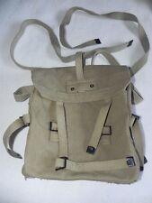 Israeli Military IDF Surplus Shoulder Bag Backpack Khaki Cotton Canvas 1970/80's