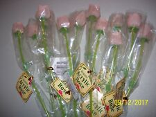 """55 NEW DECORATIVE FAKE ACRYLIC 13"""" SMALL ROSE FLOWERS, PEACH COLOR, VALENTINES"""