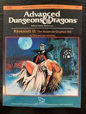 Ad&d I10 - Ravenloft II The House on Gryphon Hill - TSR 9181 - PBR