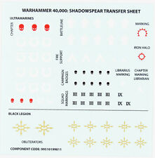 Ultramarines Black Legion Schattenspeer Decals Transfer Sheet Warhammer 40k D029