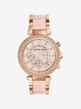 Michael Kors MK5896 Parker Rose Gold-Tone Blush Chronograph Women's Watch Ladies