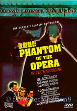 Phantom of the Opera (1943) - Nelson Eddy, Susanna Foster - DVD NEW