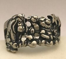 Sterling Silver Disney Ring Eeyore Tigger Piglet Thumper Winnie the Pooh Size 7