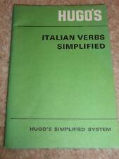HUGOS ITALIAN VERBS SIMPLIFIED 1970