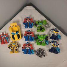 Hasbro Playskool Transformers Recue Bot Lot 11pc bumblebee Optimus chase boulder