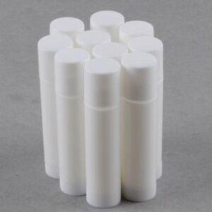 Empty White Lip Balm Container Tube 100, 50, 20, 10, 5, 2, 1 - UK Supplier