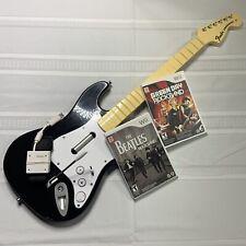 Wii Rockband Harmonix Stratocaster Wireless Guitar w/Dongle Beatles Green Day