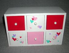 6-DRAWER  DRESSER STORAGE   ***RED, PINK, FLOWERS  ***   TARGET       NWOT