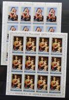 Guinea Ecuatorial 1971 Navidad Art Religion SET x 12 MNH(84 Stamps)Gu21