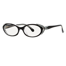7695c59eebd3 CAVIAR M 6173 C24 Cat Eye Black Eyeglasses Frames Italy 53-18-140 Rxable