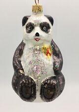 "Radko ""A Winter Bear's Heart"" Panda Ornament Euc"