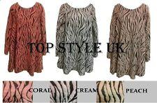 LADIES WOMENS SOFT FLUFFY ZEBRA ANIMAL PRINT STUNNING KNITTED FLARED SWING DRESS