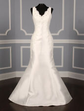 NEW Authentic Pronovias Madrid Wedding Dress Off White Sleeveless Mermaid 12
