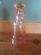 Oil and Vinegar Antique Flamingo Pink Glass Container