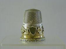 Dé à coudre Ancien en argent et vermeil/antiqueThimble silver/Fingerhut silber