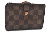 Authentic Louis Vuitton Damier Portefeuille Viennois Wallet N61674 LV A7863