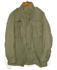 Vtg 80s M-65 Military ARMY Jacket COLD WEATHER 1982 FIELD Coat OG-107 USA L Long