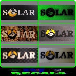 Solar Bankstick Decals Sticker (6 Colours) Inc Glow In Dark
