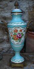 """Porcelaine """" Vieux-Paris """"Vase monture Bronze style Louis XVI"""