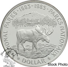 Canada: 1985 $1 National Parks Centennial Proof Silver Dollar Coin -Capsule Only