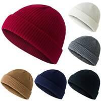 Men's Women's Knit Baggy Beanie Warm Winter Hat Ski Slouchy Fisherman Docker Cap