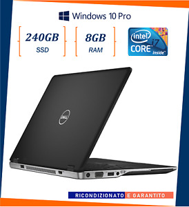 """pc portatile notebook usato ricondizionato SSD 240GB 14"""" DELL INTEL i7 E6430U"""