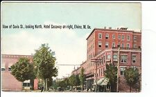 Early 1900's View of Davis St. and Hotel Gasaway in Elkins, WV West Virginia PC