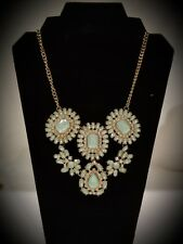 Rhinestone Nacklace Gold Color  with right green color