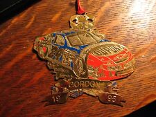 Jeff Gordon Christmas Ornament - Vintage 1995 NASCAR Auto Race Car Driver Xmas
