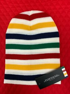 Canadian Hudson's Bay HBC Stripes Unisex Wool Blend Tuque Hat. Ships from USA!