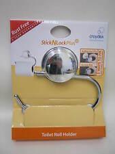New Croydex Toilet Roll Towel Holder Stick N Lock Plus Chrome QM281141 Rust Free