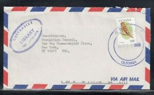 GUYANA Commercial Cover Georgetown to New York City 12-3-1998 Cancel